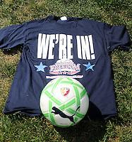 Shirts given to the first 1500 fans to enter the Washington Freedom game. The Skyblue FC defeated the Washington Freedom 2-1 in first round of WPS playoffs at the Maryland Soccerplex, Saturday, August 15, 2009.