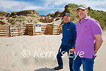 Residents in Banna are to apply to Kerry County Council for funding to help protect and restore sand dunes in Banna over fear of severe flooding and have done some restoration works on the dunes. L to r: Pat Lawlor and John Lane