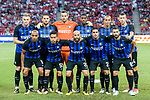 FC Internazionale squad pose for team photo during the International Champions Cup match between FC Bayern and FC Internazionale at National Stadium on July 27, 2017 in Singapore. Photo by Weixiang Lim / Power Sport Images