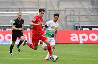 23rd May 2020, BORUSSIA-PARK, North Rhine-Westphalia, Germany; Bundesliga football, Borussia Moenchengladbach versus Bayer Leverkusen; Kai Havertz (Leverkusen) outpaces  Lars Stindl (BMG)