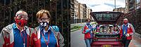 """CAJICA - COLOMBIA, 15-07-2020: """"Con mi señora,  Claudia Villamizar, nos ha tocado duro, teníamos nuestro propio local y toco cerrarlo, pero no nos quedamos varados, buscamos la forma de salir adelante y aquí estamos"""" Carlos Rodriguez, 39 años, es su testimonio quien como la mayoría de trabajadores informales se ve obligado a salir a buscar el sustento diario para subsistir en medio de la cuarentena total en el territorio colombiano causada por la pandemia  del Coronavirus, COVID-19. / """"With my wife, Claudia Villamizar, we have had a hard time, we had our own store and I have to close it, but we did not stay stranded, we looked for a way to get ahead and here we are"""" Carlos Rodriguez, 39, accompanied with his wife Claudia Villamizar, it is his testimony who, like most informal workers, is forced to go out to find daily sustenance in order to subsist in the midst of the total quarantine in Colombian territory caused by the Coronavirus pandemic, COVID-19. Photo: VizzorImage / Johan Rugeles / Cont"""