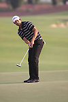 Adam Scott takes his putt on the 18th hole during  Day 2 at the Dubai World Championship Golf in Jumeirah, Earth Course, Golf Estates, Dubai  UAE, 20th November 2009 (Photo by Eoin Clarke/GOLFFILE)