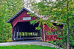The Brookdale Bridge, a covered bridge built in 1964 in Stowe, Vermont