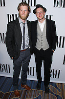 BEVERLY HILLS, CA, USA - MAY 13: Wesley Schultz, Jeremiah Caleb Fraites, The Lumineers at the 62nd Annual BMI Pop Awards held at the Regent Beverly Wilshire Hotel on May 13, 2014 in Beverly Hills, California, United States. (Photo by Xavier Collin/Celebrity Monitor)