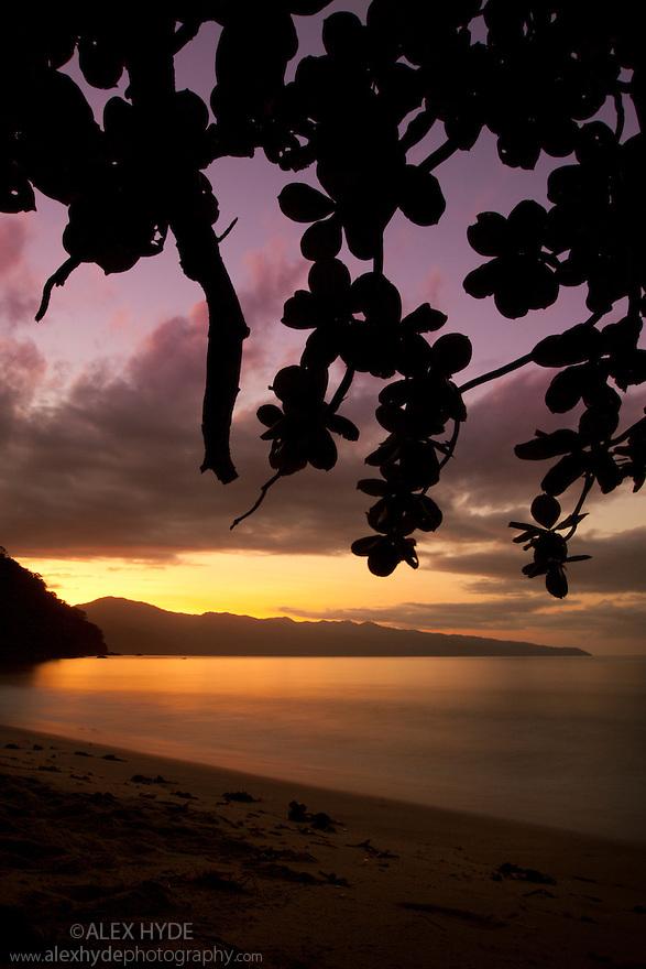 Sunrise over Antongil Bay, Masoala Peninsula National Park, north east Madagascar.
