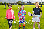 Ready for training at Tralee Parnells camogie juvenile training on Friday, l to r:  Lily Barrett, Sadhbh Darcy and Anna Spring.
