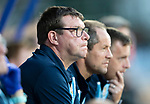 St Johnstone v Brechin….24.07.19      McDiarmid Park     Betfred Cup       <br />Manager Tommy Wright pictured in the dugout with Alex Cleland and Alan Maybury<br />Picture by Graeme Hart. <br />Copyright Perthshire Picture Agency<br />Tel: 01738 623350  Mobile: 07990 594431