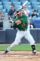 """Miami Hurricanes Rony Rodriguez #21 during a game vs. the University of South Florida Bulls in the """"Florida Four"""" at George M. Steinbrenner Field in Tampa, Florida;  March 1, 2011.  USF defeated Miami 4-2.  Photo By Mike Janes/Four Seam Images"""