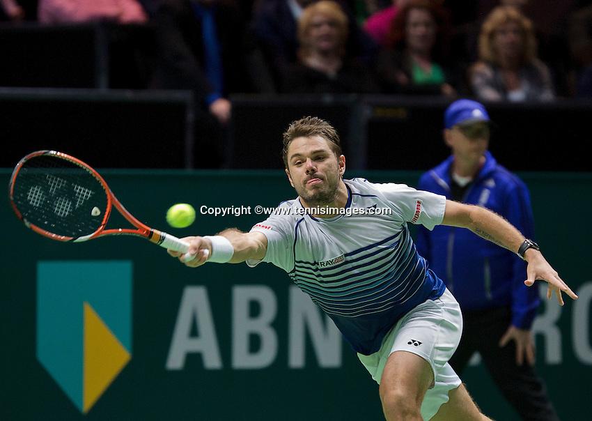 Februari 15, 2015, Netherlands, Rotterdam, Ahoy, ABN AMRO World Tennis Tournament, Final: winner Stanislas Wawrinka (SUI)<br /> Photo: Tennisimages/Henk Koster