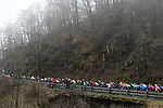 The peleton climb the Passo del Turchino during the 109th edition of Milan-Sanremo 2018 running 294km from Milan to Sanremo, Italy. 17th March 2018.<br /> Picture: LaPresse/Fabio Ferrari | Cyclefile<br /> <br /> <br /> All photos usage must carry mandatory copyright credit (© Cyclefile | LaPresse/Fabio Ferrari)