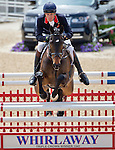 April 27, 2014: BAY MY HERO, ridden by William Fox-Pitt (GBR), comeptes during the stadium jumping final while winning the Rolex Kentucky 3-Day Event at the Kentucky Horse Park in Lexington, KY. Jon Durr/ESW/CSM