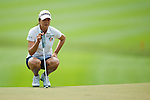 CHON BURI, THAILAND - FEBRUARY 17:  Hee-Won Han of South Korea lines up a putt on the 17th green during day two of the LPGA Thailand at Siam Country Club on February 17, 2012 in Chon Buri, Thailand.  Photo by Victor Fraile / The Power of Sport Images