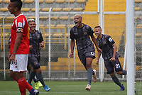 BOGOTÁ - COLOMBIA, 05-03-2020.Julián Anaya de Tigres celebra después de convertir un gol a Barranquilla . Tigres y Barranquilla   en partido de vuelta por la primera ronda de clasificación de la Copa Betplay DIMAYOR 2020 jugado en el estadio Metropolitano  de Techo en Bogotá. / Julian Anaya player of Tiigres celebrates after scoring a goal agaisnt of Barranquilla. Tigres   and Barranquilla  for the second leg match BetPlay DIMAYOR Cup 2020 played at Metropolitano de Techo stadium in Bogota city. Photo: VizzorImage / Felipe Caicedo/ Satff