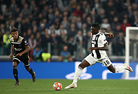 Football Soccer: UEFA Champions UEFA Champions League quarter final second leg Juventus - Ajax, Allianz Stadium, Turin, Italy, March 12, 2019. <br /> Juventus' Moise Kean (r) in action during the Uefa Champions League football match between Juventus and Ajax  at the Allianz Stadium, on March 12, 2019.<br /> UPDATE IMAGES PRESS/Isabella Bonotto