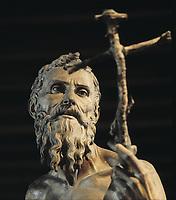 TORRIGIANO, Pietro (1472-1528). Saint Jerome. 1525. Renaissance art. Sculpture on wood. SPAIN. Sevilla. Fine Arts Museum.