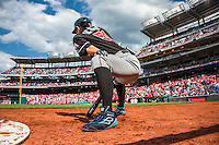 15 May 2016: Miami Marlins outfielder Ichiro Suzuki on deck during a game against the Washington Nationals at Nationals Park in Washington, DC. The Marlins defeated the Nationals 5-1 in the final game of their 4-game series.  Mandatory Credit: Ed Wolfstein Photo *** RAW (NEF) Image File Available ***