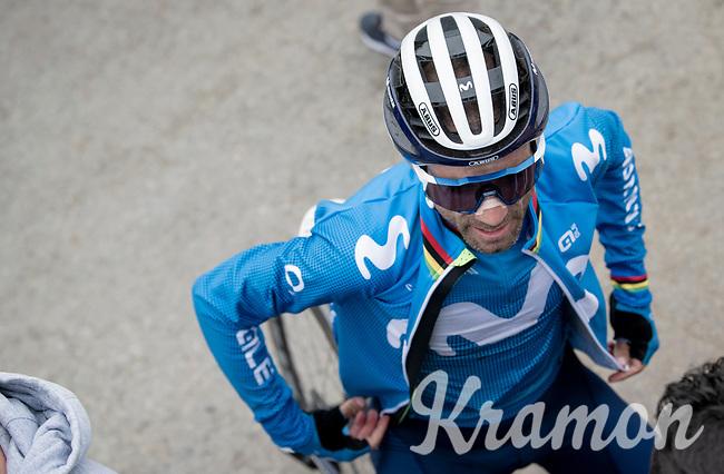 Alejandro Valverde (ESP/Movistar) at the finish up Luz Ardiden<br /> <br /> Stage 18 from Pau to Luz Ardiden (130km)<br /> 108th Tour de France 2021 (2.UWT)<br /> <br /> ©kramon