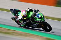 30th March 2021; Barcelona, Spain; Superbikes, WorldSSP600 , day 2 testing at Circuit Barcelona-Catalunya;   M. Fabrizio (ITA) riding Kawasaki ZX 6R from GAP Motozoo racing by Puccetti