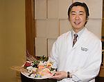 Chef with Sushi Dish, Hakubai, Kitano Hotel, New York, New York