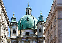 Barocke Peterskirche am Peters Platz, Wien, Österreich, UNESCO-Weltkulturerbe<br /> Baroque Peter's Church, Vienna, Austria, world heritage