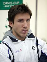 02-03-11, Tennis, Oekraine, Charkov, Daviscup, Oekraine - Netherlands, Igor Sijsling