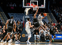 WASHINGTON, DC - FEBRUARY 19: Emmitt Holt #15 of Providence clashes with Terrell Allen #12 of Georgetown during a game between Providence and Georgetown at Capital One Arena on February 19, 2020 in Washington, DC.