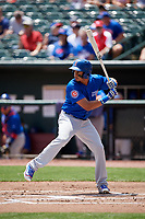 Iowa Cubs first baseman Jeimer Candelario (5) at bat during a game against the Memphis Redbirds on May 29, 2017 at AutoZone Park in Memphis, Tennessee.  Memphis defeated Iowa 6-5.  (Mike Janes/Four Seam Images)