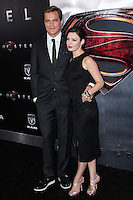 """NEW YORK, NY - JUNE 10: Michael Shannon and Kate Arrington attend the """"Man Of Steel"""" World Premiere at Alice Tully Hall at Lincoln Center on June 10, 2013 in New York City. (Photo by Celebrity Monitor)"""