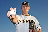 Feb 28, 2010; Bradenton, FL, USA; Pittsburgh Pirates  pitcher Jeff Sues (83) during  photoday at Pirate City. Mandatory Credit: Tomasso De Rosa/ Four Seam Images
