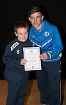 St Johnstone FC Academy Awards Night...06.04.15  Perth Concert Hall<br /> Craig Thomson presents a certificate to Ben Ramage<br /> Picture by Graeme Hart.<br /> Copyright Perthshire Picture Agency<br /> Tel: 01738 623350  Mobile: 07990 594431
