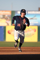 Brooks Marlow (10) of the Lancaster JetHawks runs the bases during a game against the San Jose Giants during the second game of a doubleheader at The Hanger on July 14, 2016 in Lancaster, California. Lancaster defeated San Jose, 3-0. (Larry Goren/Four Seam Images)