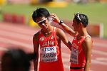 (L to R) <br /> Eiki Takahashi, <br /> Isamu Fujisawa (JPN), <br /> AUGUST 23, 2015 - Athletics : <br /> 15th IAAF World Championships in Athletics Beijing 2015 <br /> Men's 20km Race Walk Final <br /> at Beijing National Stadium in Beijing, China. <br /> (Photo by YUTAKA/AFLO SPORT)