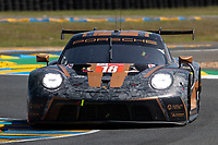 #18 Absolute Racing Porsche 911 RSR - 19 LMGTE Am, Andrew Haryanto, Alessio Picariello, Marco Seefried, 24 Hours of Le Mans , Test Day, Circuit des 24 Heures, Le Mans, Pays da Loire, France