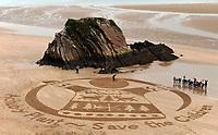 2017 12 05 Sand art in Tenby, Wales, UK