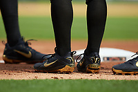 Vanderbilt Commodores players wear custom Nike cleats during the game against the Sam Houston State Bearkats in game one of the 2018 Shriners Hospitals for Children College Classic at Minute Maid Park on March 2, 2018 in Houston, Texas. The Bearkats walked-off the Commodores 7-6 in 10 innings.   (Brian Westerholt/Four Seam Images)