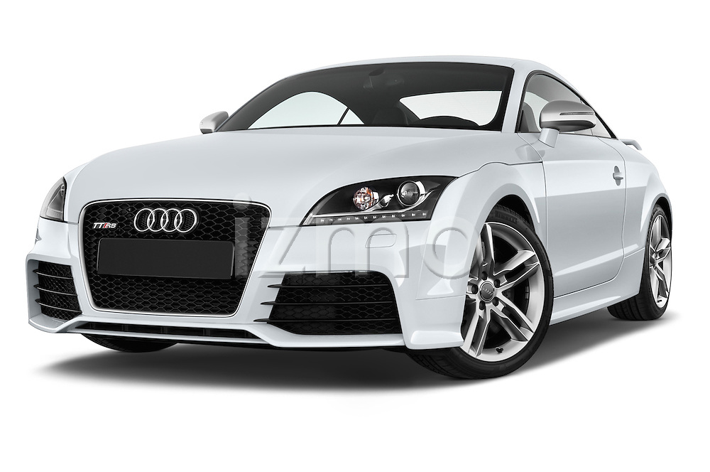 Low aggressive front three quarter view of a 2010 - 2014 Audi TT RS 3 Door Coupe 4WD.