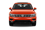 Car photography straight front view of a 2018 Volkswagen Tiguan SEL 4Motion 5 Door SUV