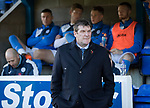 St Johnstone v Celtic…04.11.17…  McDiarmid Park…  SPFL<br />Saints manager Tommy Wright<br />Picture by Graeme Hart. <br />Copyright Perthshire Picture Agency<br />Tel: 01738 623350  Mobile: 07990 594431
