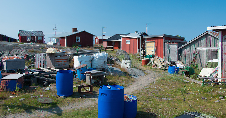 A collection of fishermen and cottagers spend the summer at Norrskär Island in the Gulf of Bothnia