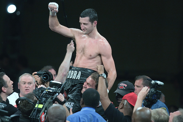 6/4/2011Carl Froch of Nottingham England wins a decision over Glen Johnson In Atlantic City Boardwalk Hall. He advances to Super Middle weight division unification match .