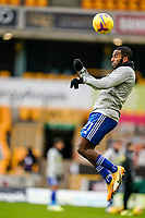 7th February 2021; Molineux Stadium, Wolverhampton, West Midlands, England; English Premier League Football, Wolverhampton Wanderers versus Leicester City; Ricardo Pereira of Leicester City warms-up prior to the match