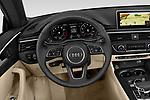 Steering wheel view of a 2019 Audi A5-Cabriolet Premium-Plus 2 Door Convertible Steering Wheel