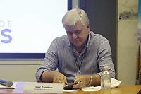 Campinas (SP), 22/02/2021 - Dario Saadi - Lair Zambom, secretario de saude. O prefeito de Campinas (SP), Dário Saadi (Republicanos), realizou nesta segunda-feira (22), um anúncio com ações que serão tomadas para o combate à covid-19 na cidade. A medida vai ocorrer, segundo Dário, devido a um aumento significativo de casos da doença em Campinas.<br /> Ontem, a cidade atingiu lotação máxima de leitos de UTI-Covid no sistema público de saúde. A taxa inclui leitos da rede pública municipal e estadual.