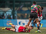 BGC Dragons vs Tradition YCAC in the Cup Final during day 2 of the 2014 GFI HKFC Tens at the Hong Kong Football Club on 27 March 2014. Photo by Juan Flor / Power Sport Images