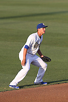 Corey Seager #12 of the Rancho Cucamonga Quakes during a game against the Bakersfield Blaze at LoanMart Field on June 9, 2014 in Rancho Cucamonga, California. Bakersfield defeated Rancho Cucamonga, 3-1. (Larry Goren/Four Seam Images)