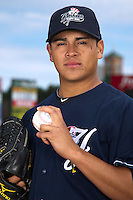 Scranton Wilkes-Barre Yankees pitcher Manny Banuelos poses for a photo during media day at Frontier Field on April 3, 2012 in Rochester, New York.  (Mike Janes/Four Seam Images)