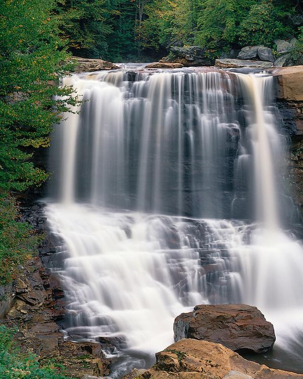 Blackwater Falls in early fall; Blackwater Falls State Park, WV