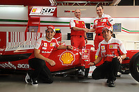 F1 GP of Australia, Melbourne 26. - 28. March 2010.Felipe Massa (BR), Fernando Alonso (SPA), Stefano Domenicali (ITA), Scuderia Ferrari Director of the Gestione Sportiva.Shell 450 races..Picture: Hasan Bratic/Universal News And Sport (Europe) 26 March 2010.
