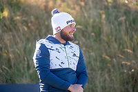 1st October 2021; Kingsbarns Golf Links, Fife, Scotland; European Tour, Alfred Dunhill Links Championship, Second round; Tyrrell Hatton of England watches his tee shot