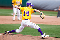 Gabe Long (14) of the Western Illinois Leathernecks during a game vs. the Missouri State Bears at Hammons Field in Springfield, Missouri;  March 20, 2011.  Photo By David Welker/Four Seam Images